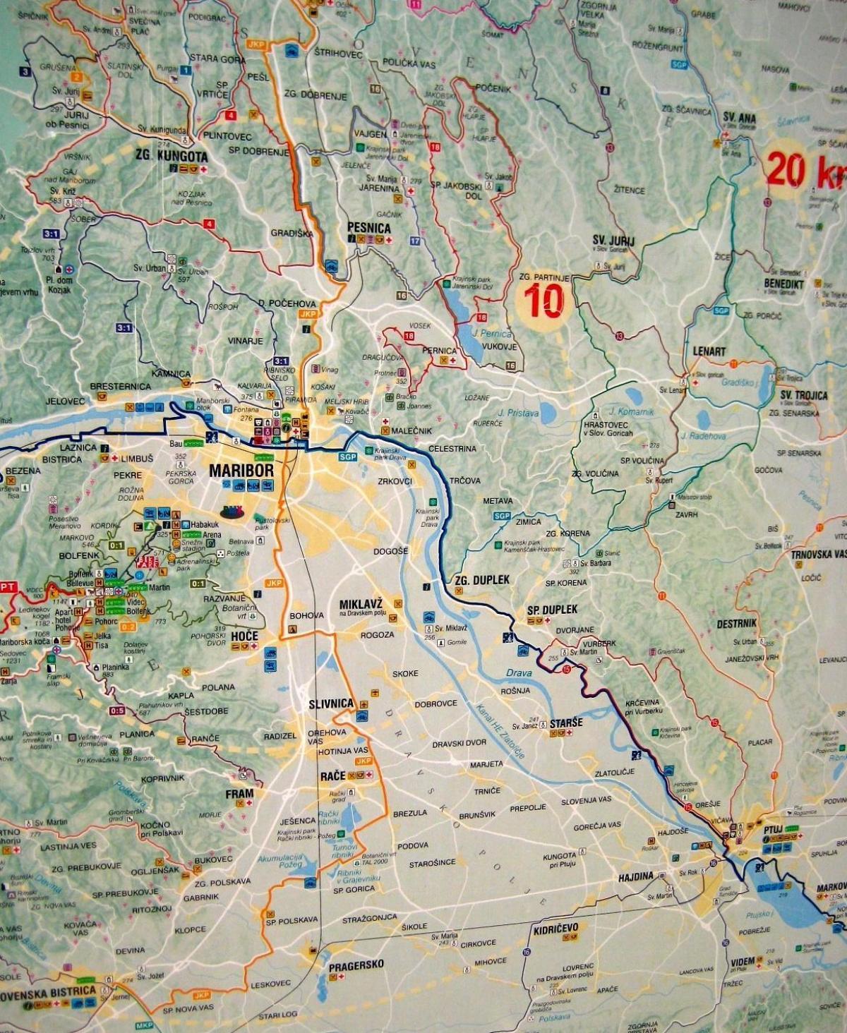 Camping Slovenien Kort Kort Over Camping I Slovenien Det